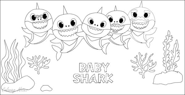 atividade de colorir baby shark