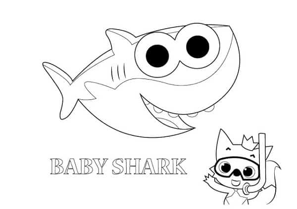 atividade de pintar baby shark