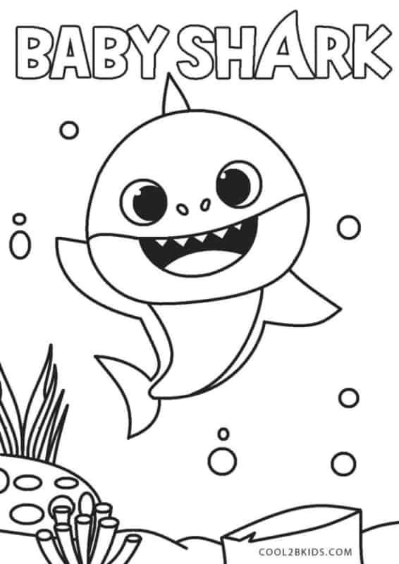 desenho gratis baby shark