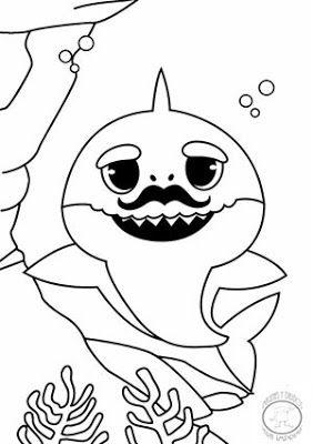 inspiracao para colorir baby shark