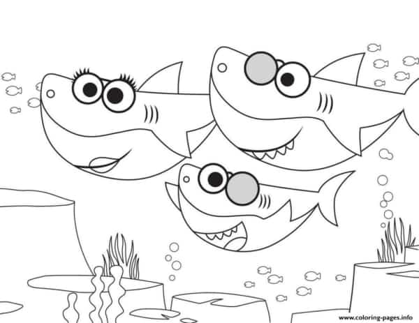 atividade para pintar baby shark