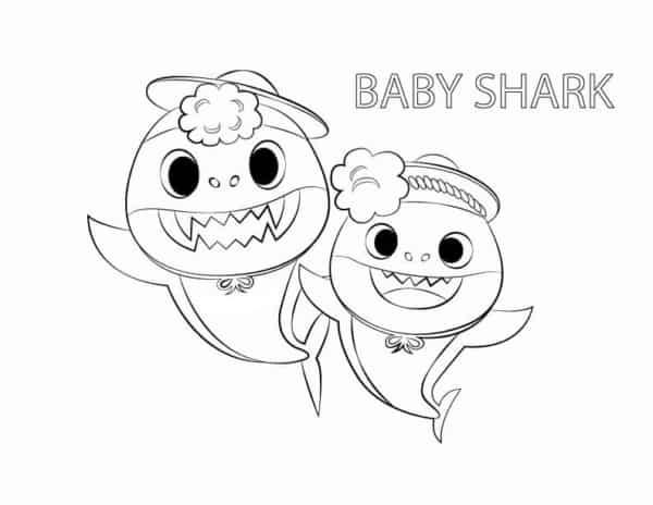 atividade gratis para colorir baby shark