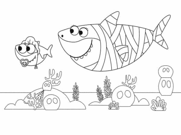 desenho fundo do mar baby shark
