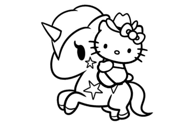 desenhos fofos para colorir Hello Kitty