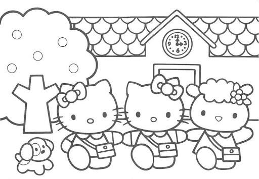 Hello Kitty para imprimir e colorir