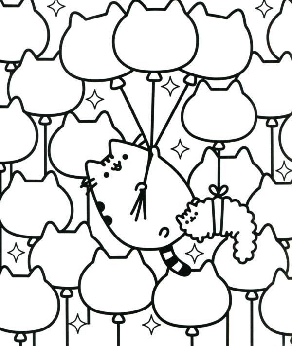 desenhos fofos para colorir do Pusheen