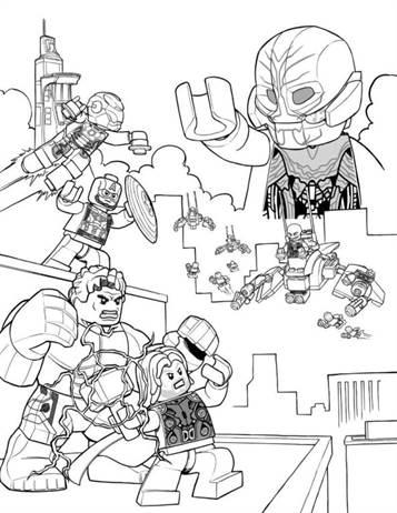 Avengers Lego para colorir
