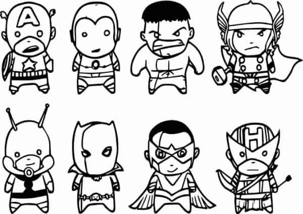 Avengers chibi