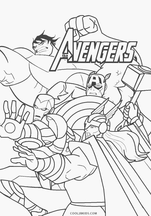 Avengers para colorir gratis