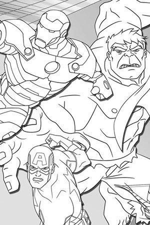 Capitao America Homem de Ferro e Hulk