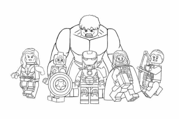 Desenho Vingadores Lego