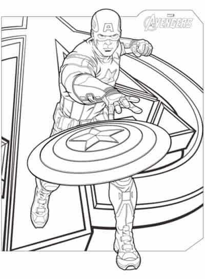 Desenho do Capitao America para colorir
