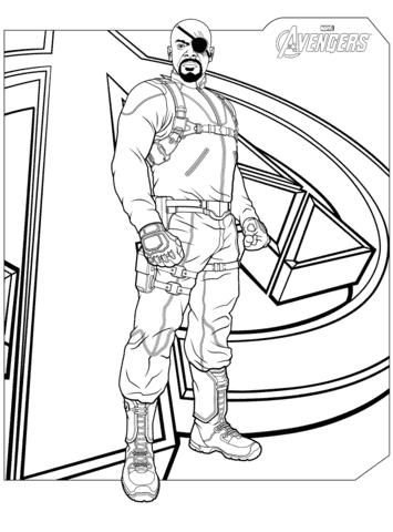Desenho do Nick Fury para colorir