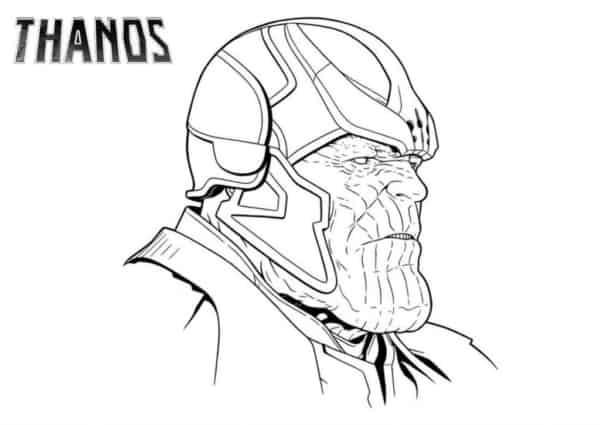 Desenho do Thanos para colorir