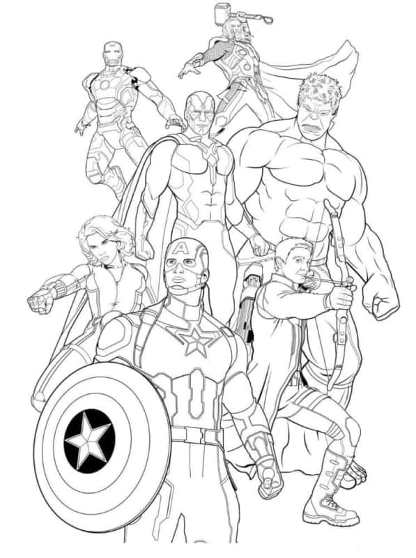 Desenho dos Vingadores Poster