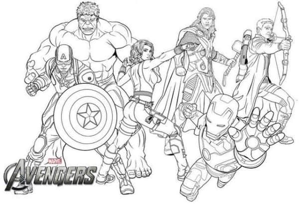Desenho dos Vingadores mais famosos