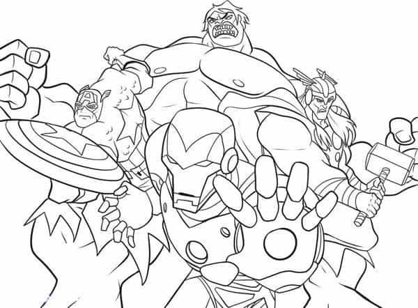 Homem de Ferro Capitao America Thor e Hulk