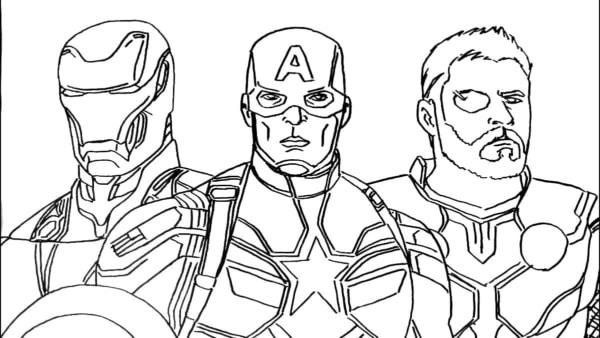 Homem de Ferro Capitao America e Thor