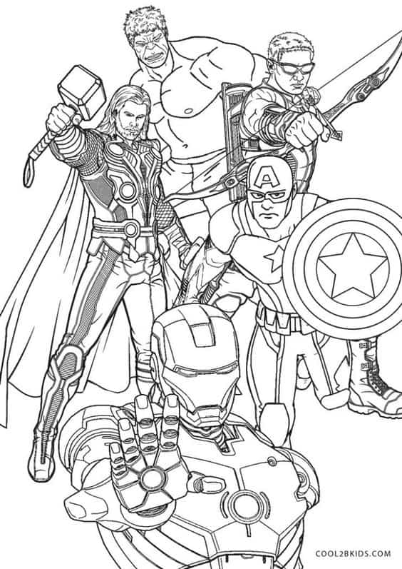 Homem de Ferro Thor Capitao America Gaviao Arqueiro e Hulk
