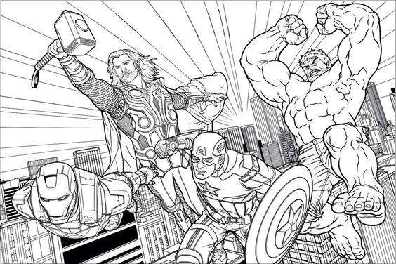 Homem de Ferro Thor Capitao America e Hulk