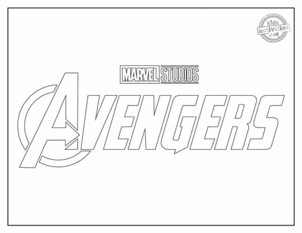 Logo Avengers para colorir