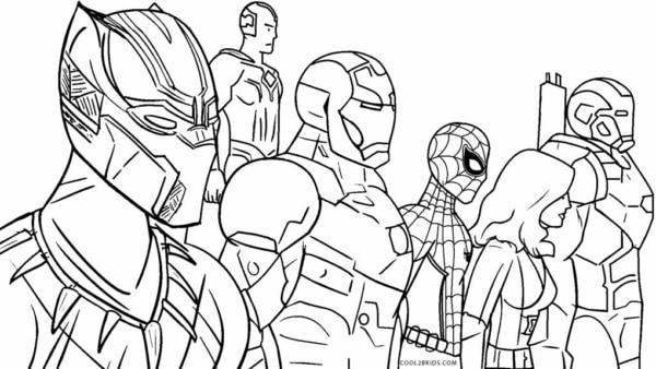 Pantera Negra Homem de Ferro Homem Aranha Viuva Negra Hulk e Visao