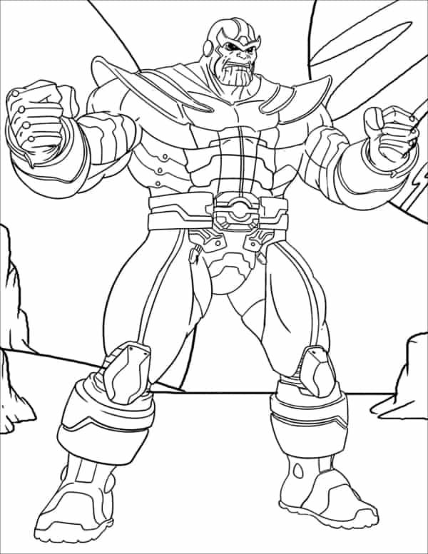 Thanos para imprimir e colorir