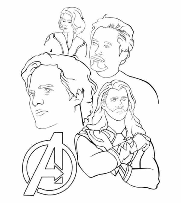 Thor Bruce Banner Tony Stark e Natasha Romanoff