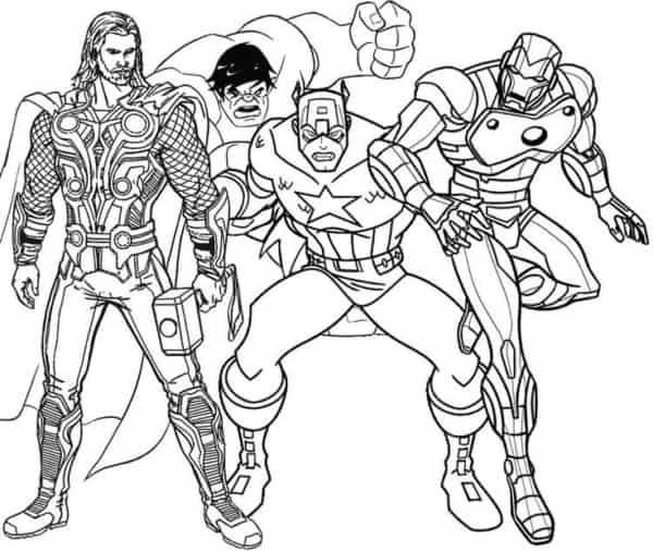 Thor Hulk Capitao America e Homem de Ferro