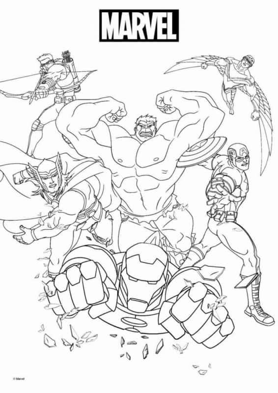 Vingadores Marvel para colorir