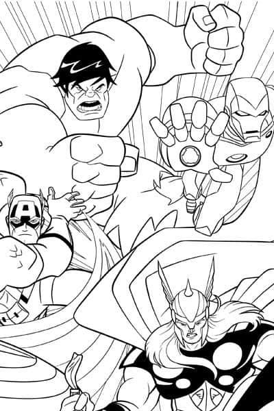 Vingadores Quadrinhos para colorir