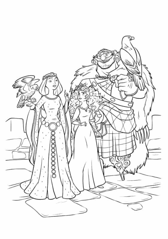 Merida e sua familia