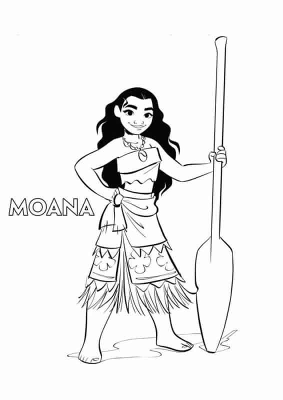 Personagem Moana para colorir