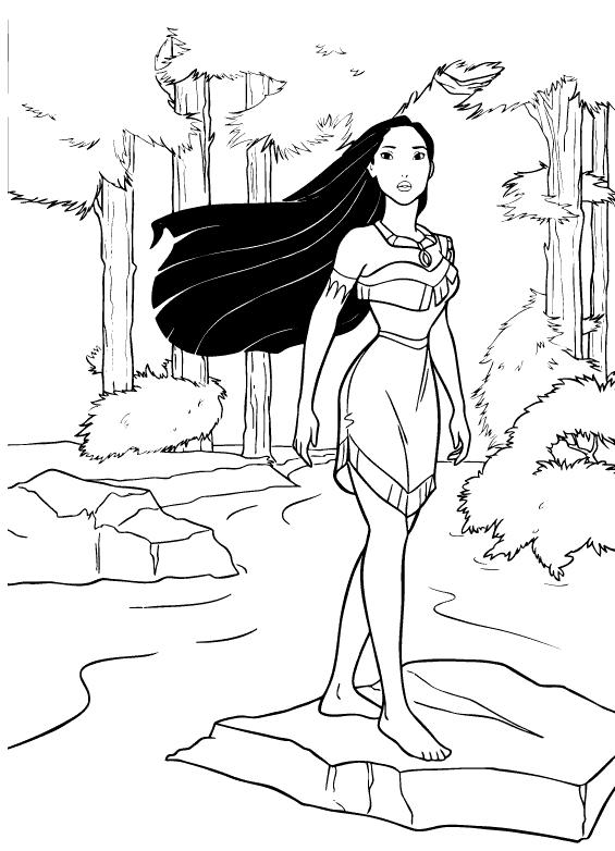 Pocahontas para colorir e imprimir