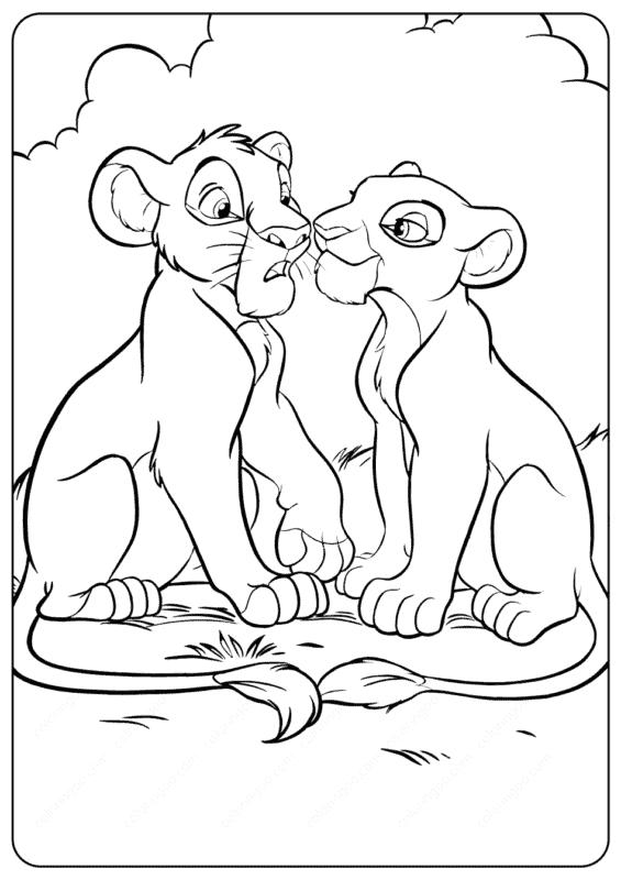 Simba e Nala filhotes