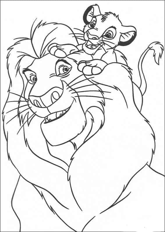 Simba e seu pai Mufasa
